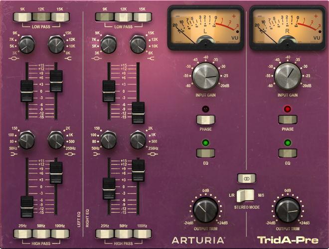 Arturia TridA-Pre VST Filter