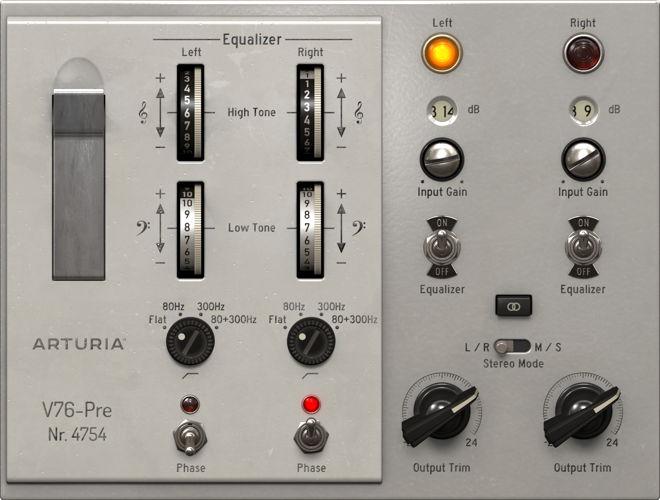 Arturia V76-Pre VST Filter