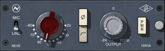 UAD Audio Neve Preamp Plugin