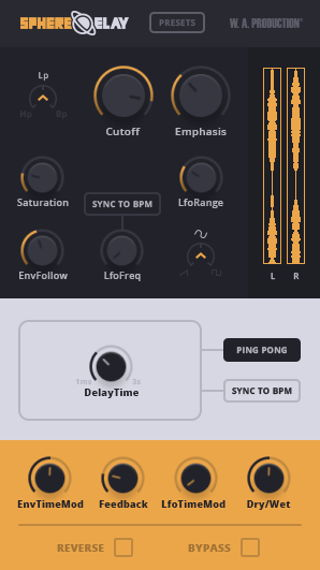 WA Production SphereDelay VST Plugin