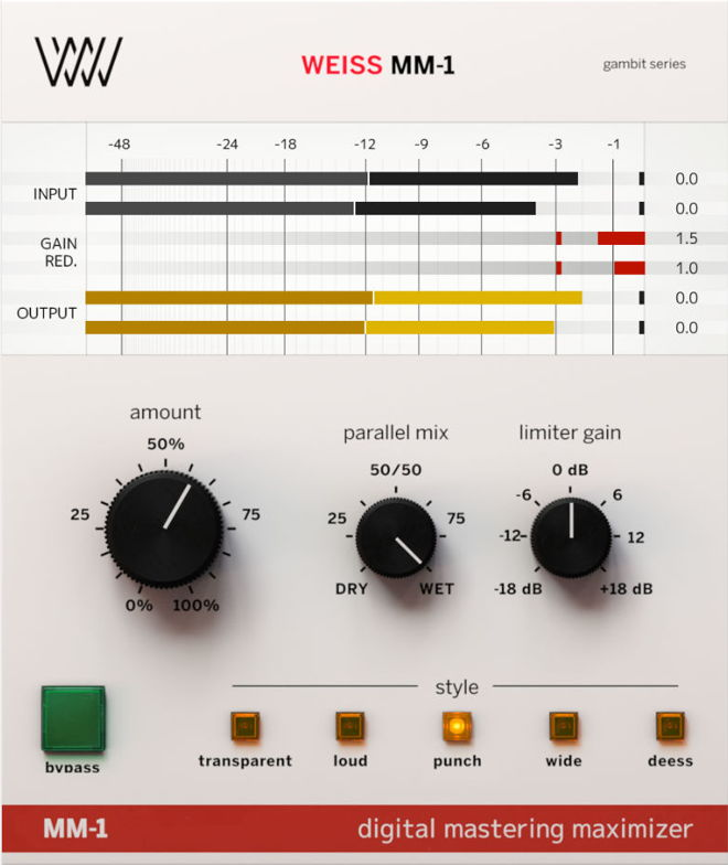 WEISS MM-1 Mastering Plugin