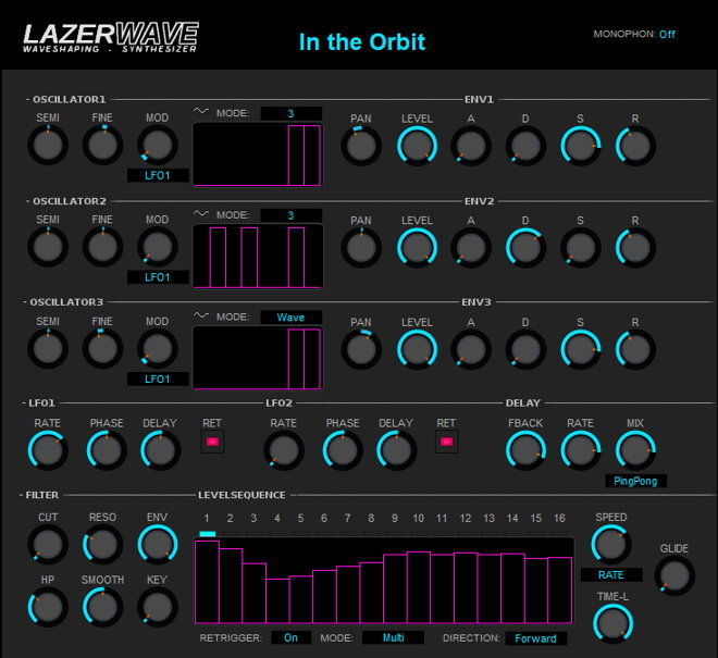 LazerWave Free Synth VST Plugin