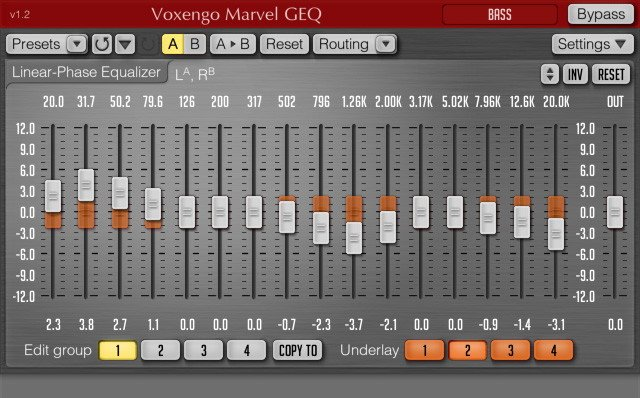 Voxengo Marvel GEQ Free VST EQ Plugin