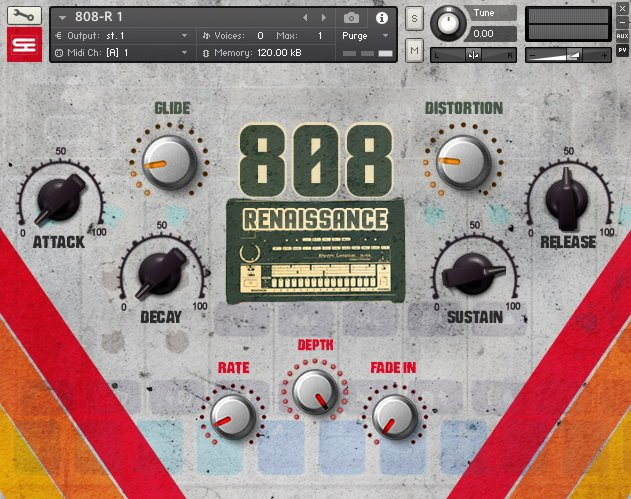 808 Renaissance Kontakt 808 Drums Library