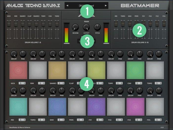 Analog Techno Drums VST Interface