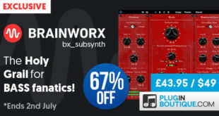 Brainworx bx_subsynth plugin synthesizer