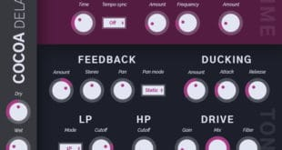 Cocoa Delay Free VST Plugin Released by Tesselode