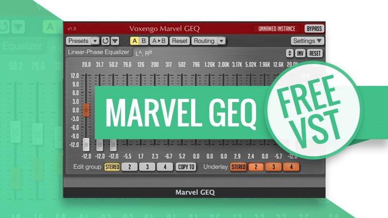 Marvel GEQ • Free VST EQ Plugin • ProducerSpot