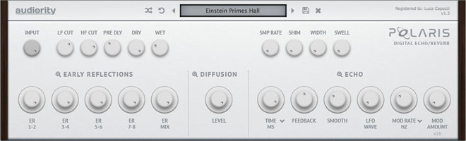 Polaris Audiority Reverb Echo Vst Effect Plugin