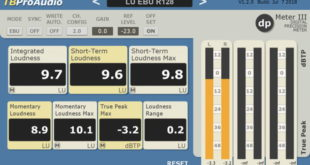 dpMeter 3 Free Metering Plugin Released by TBProAudio
