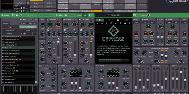 Cypher2 Synth Plugin Released by FXpansion