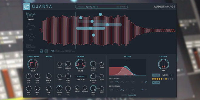 Quanta Synth Plugin & iOS App by Audio Damage