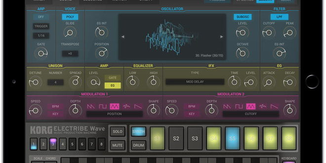 Electribe Wave for iPad Introduced by KORG