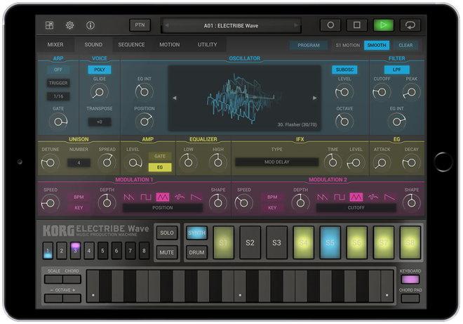 KORG ELECTRIBE Wave iPad App