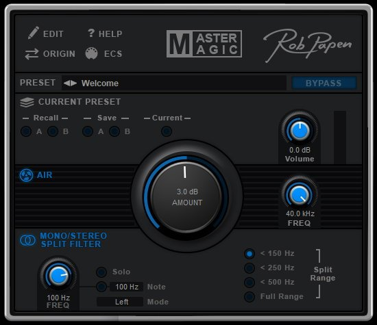 MasterMagic Mastering VST Plugin by Rob Papen