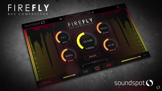 SoundSpot FireFly Bus Compressor VST Plugin