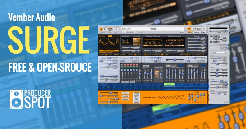 Vember Audio Surge Free Synth VST Plugin
