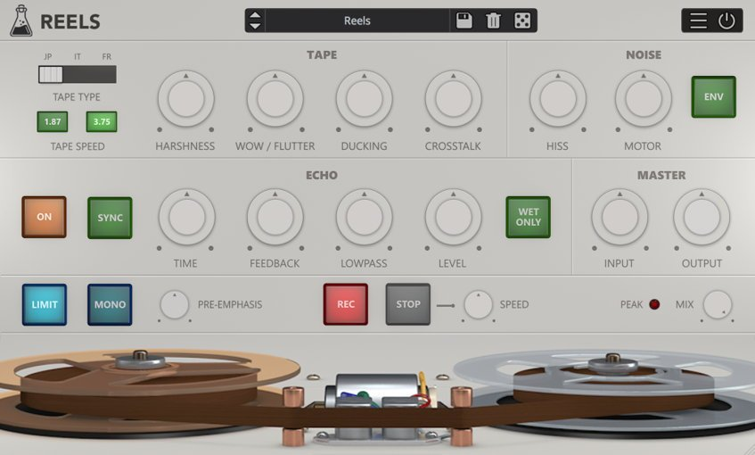 Reels AudioThing Virtual Tape Machine VST Plugin