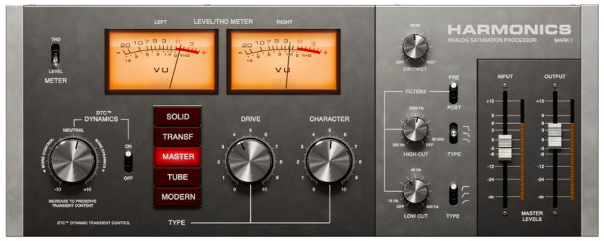 Softube Harmonics Analog Saturation Processor Plugin