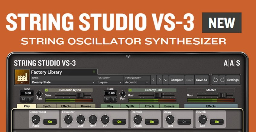 AAS String Studio VS-3 Synth VST Plugin