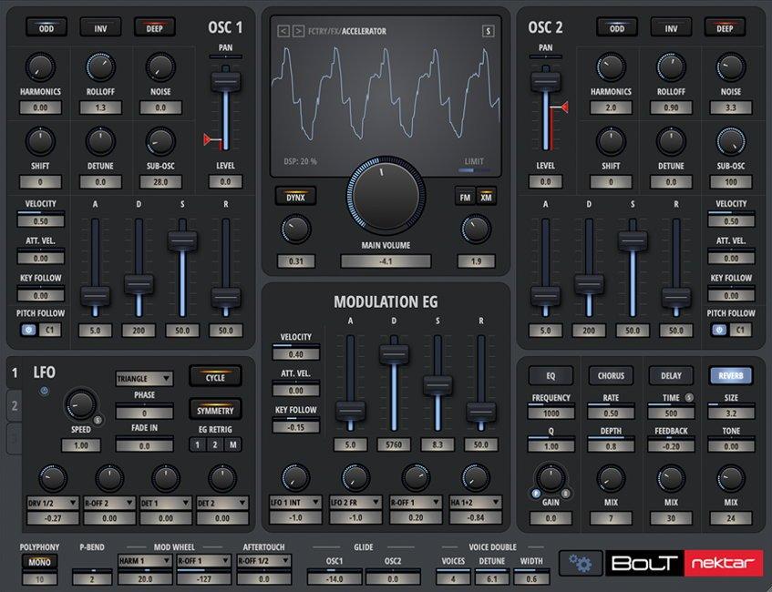Nektar BOLT VSTi Synthesizer Plugin