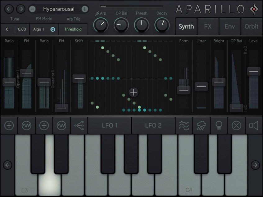 Sugar Bytes Aparillo iPad Synthesizer App