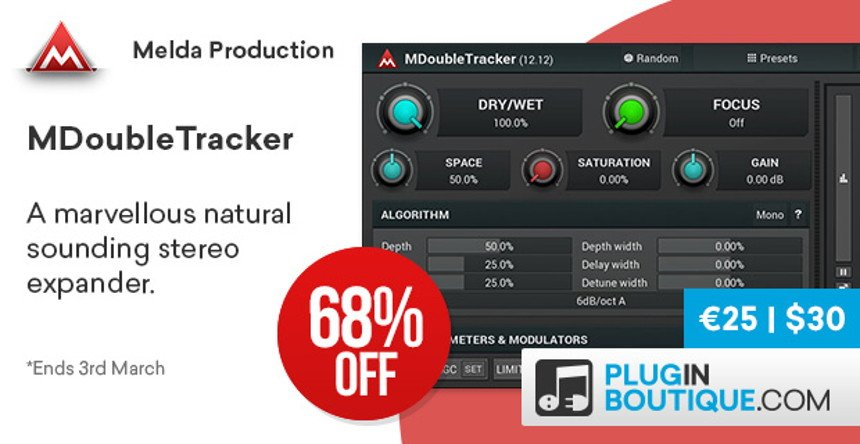 MDoubleTracker - Stereo Expander VST by MeldaProduction • ProducerSpot