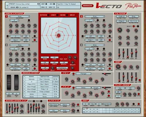 Rob Papen - Vecto VST Synthesizer GUI