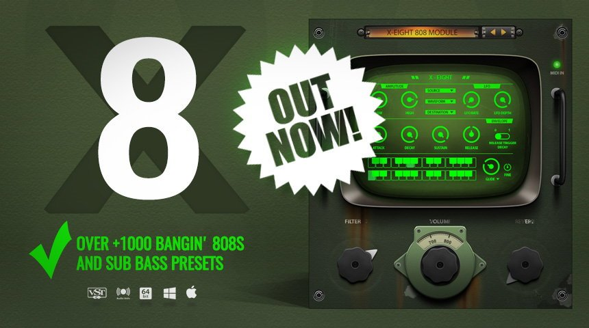 x eight 808 drum vst plugin available now producerspot. Black Bedroom Furniture Sets. Home Design Ideas