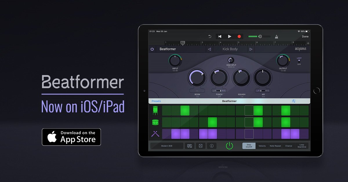Accusonus Beatformer iOS iPad Music App