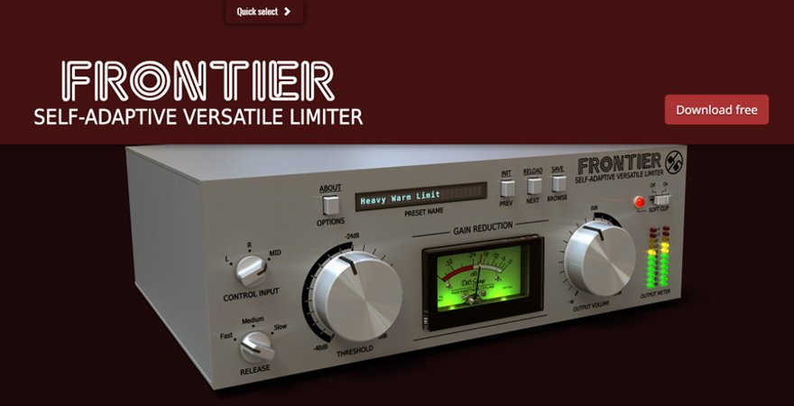 Frontier - FREE Limiter VST Plugin by D16 Group • ProducerSpot