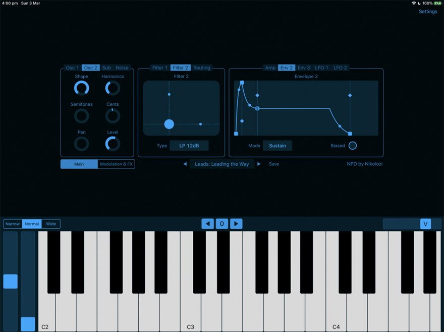 NPD - iOS Synthesizer App