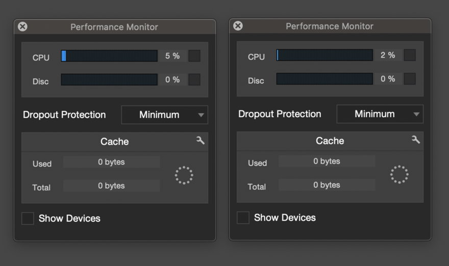 Studio One 4.5 CPU Performance