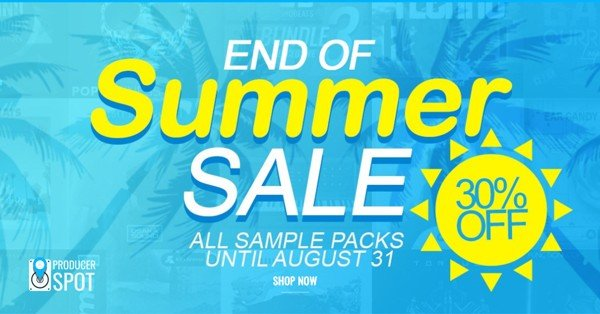 End Of Summer Sale 30% Off