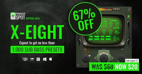 X-Eight VST Plugin 1,000 Bass Presets For Just $20 - KVR Audio