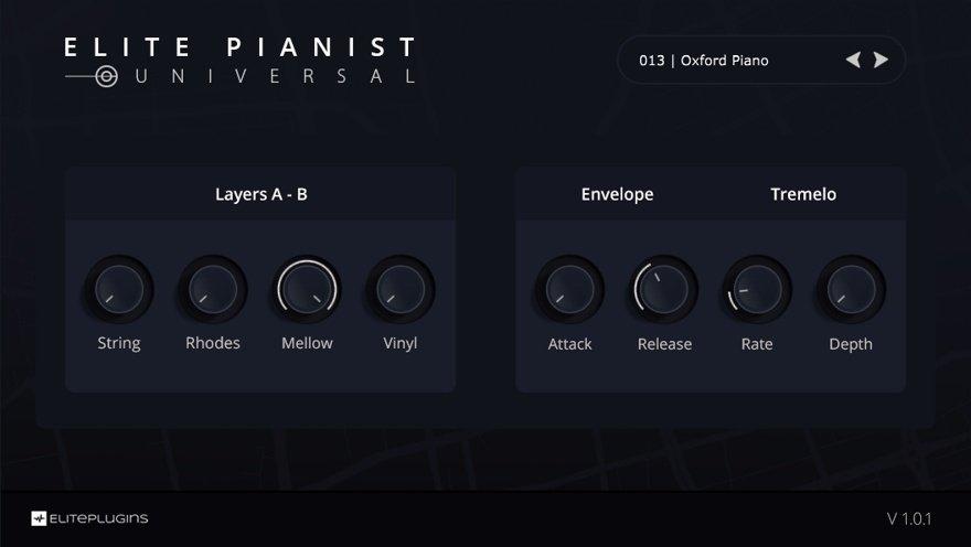 Elite Pianist VST Piano Instrument (GUI)
