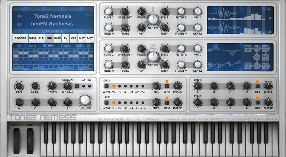 Tone2 Nemesis VST GUI