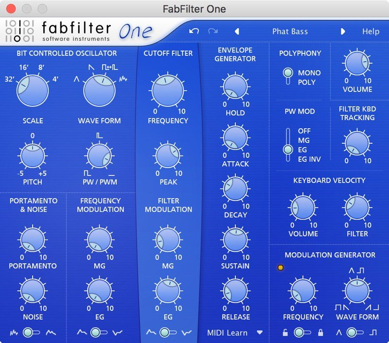 FabFilter One VST Synth Plugin