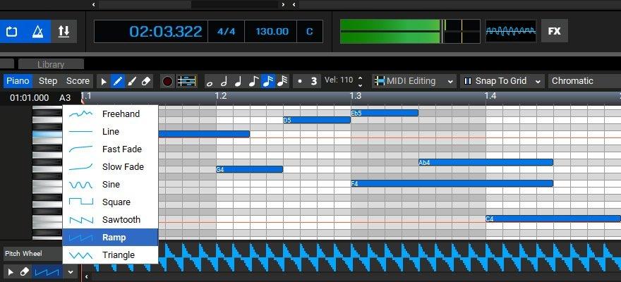 Mixcrtaft 9 MIDI Edit