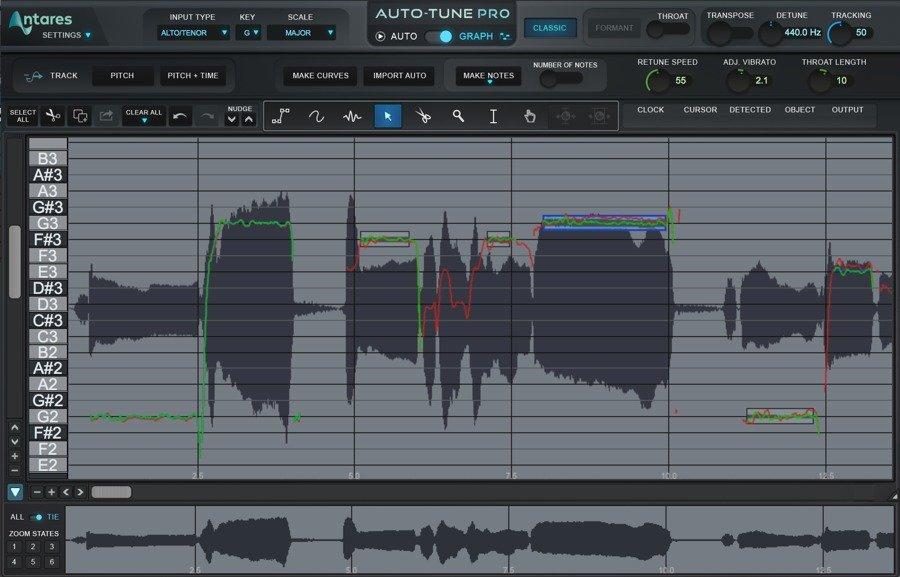 Antares Auto-Tune Pro - Graph Mode