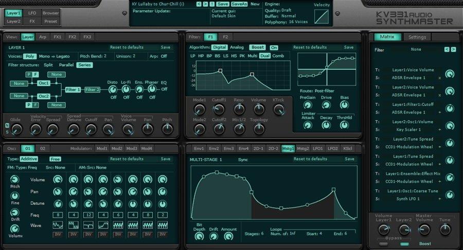 KV331 Synthmaster VST Synthesizer Plugin