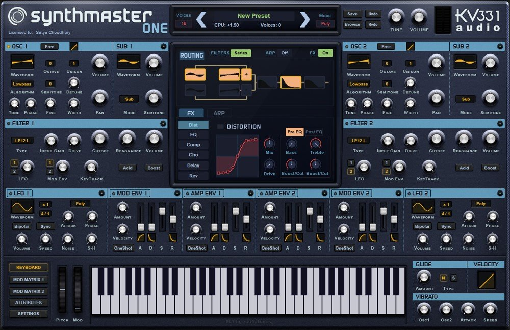 SynthMaster One VST Wavetable Synthesizer