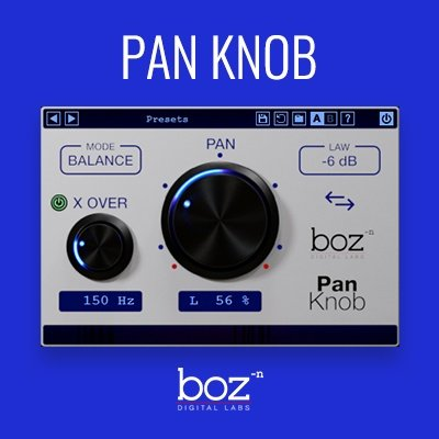 Boz Digital Pan Knob Stereo VST Plugin