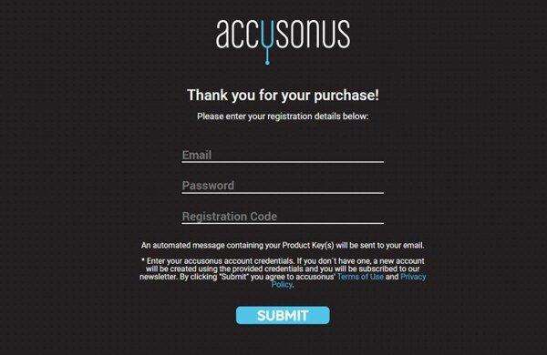 Accusonus Registration