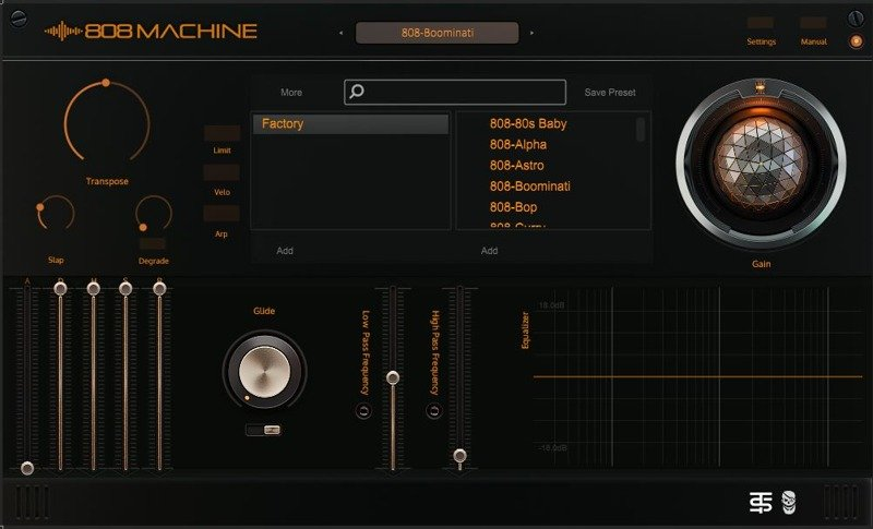 808 Machine VST GUI