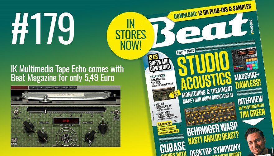 Beat Magazine #179 IK Multimedia Tape Echo