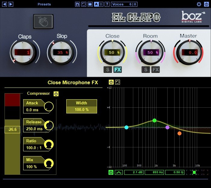 Boz Digital El Clapo Clap VST Plugin