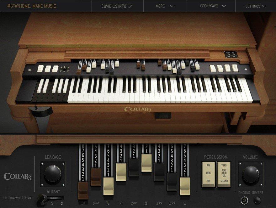 CollaB3 Free Vintage Tonewheel Organ VST