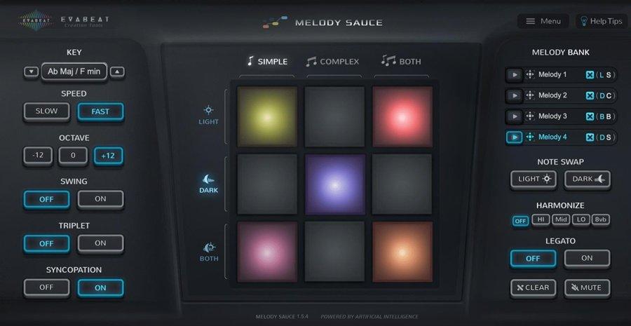 Evabeat Melody Sauce MIDI VST Plugin
