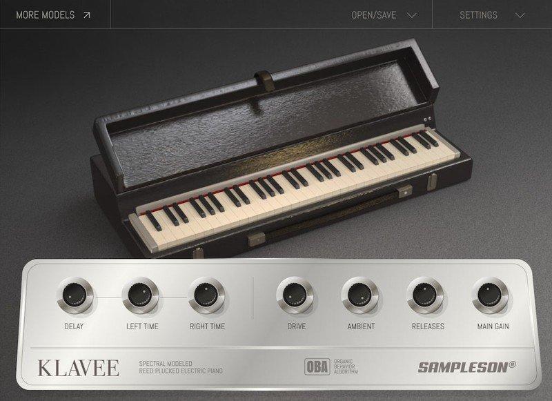 Klavee Electric Piano VST Plugin GUI